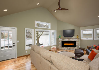 Addition Bexley ceiling fan entertainment The Cleary Company Remodel Design Build Columbus