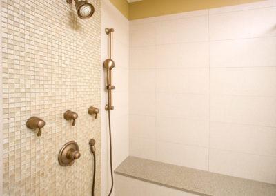 Brass theme master bath