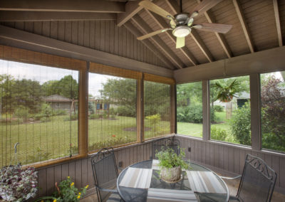 Outdoor Screened Porch addition Upper Arlington Fan