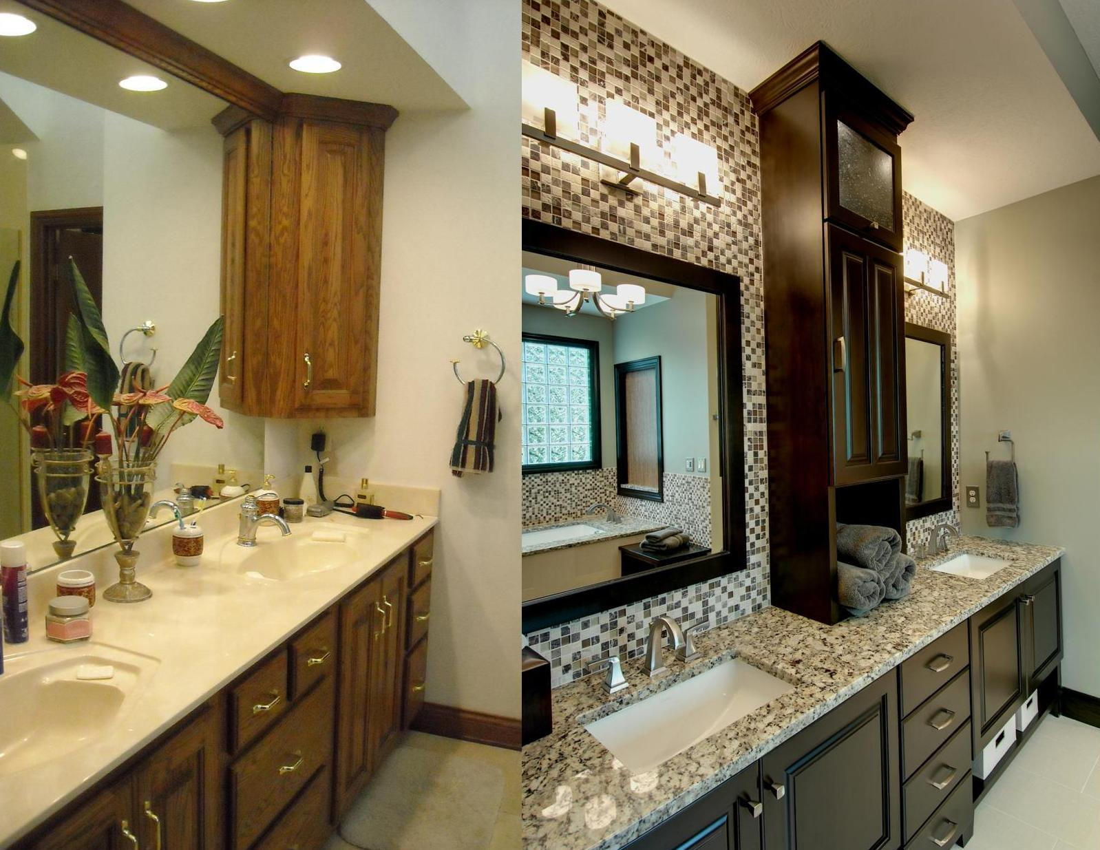 Before After Master Bathroom Remodel In Powell Ohio The Cleary