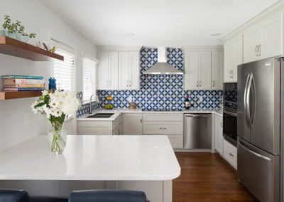 Kitchen remodel expanded footprint